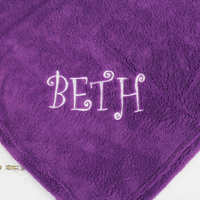 Plush Fleece Blanket - Purple - Threadart.com