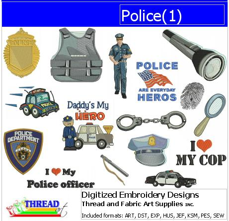 Machine Embroidery Designs - Police(1) - Threadart.com