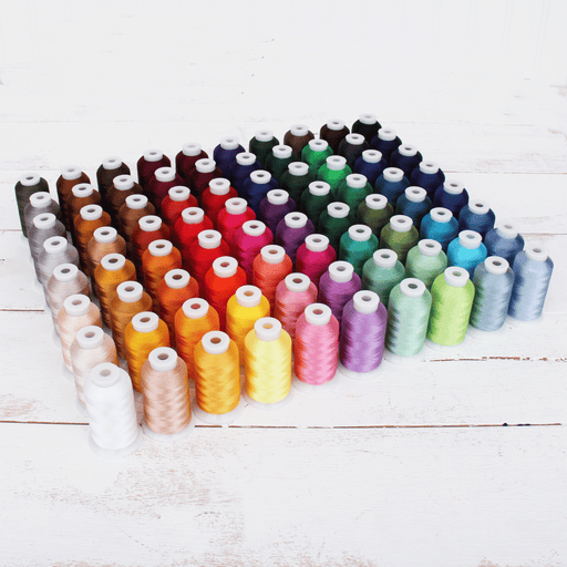 80 Colors of Polyester Embroidery Thread Set - 1000 Meters - Threadart.com