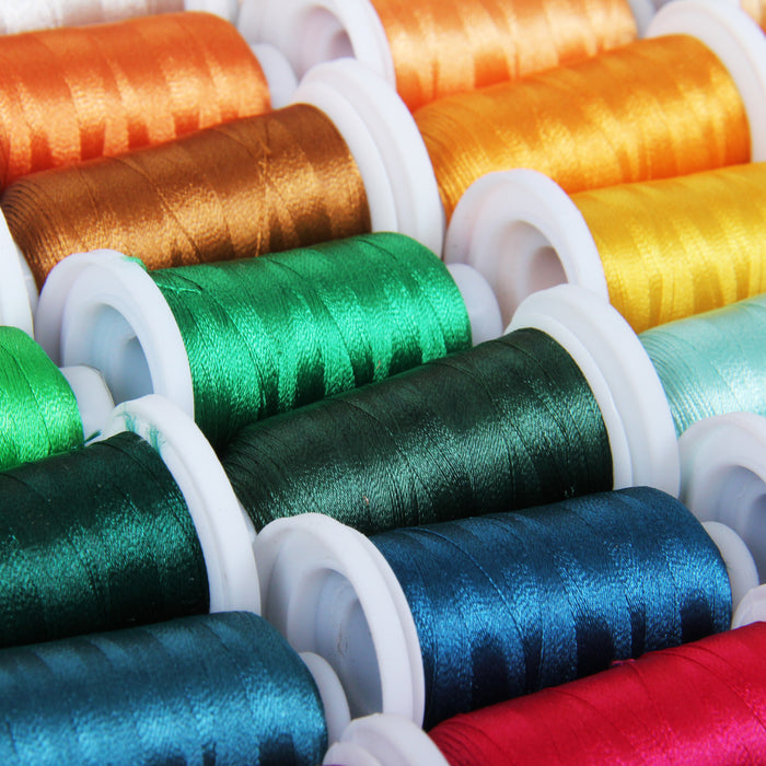 80 Cones of 500M Polyester Machine Embroidery Thread Set - A&B