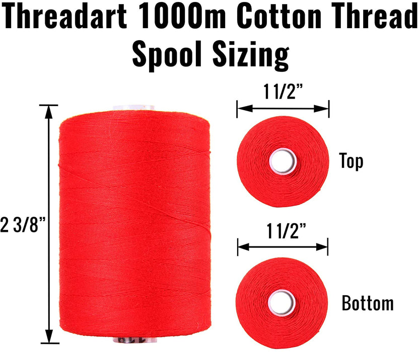 Cotton Quilting Thread - Mocha - 1000 Meters - 50 Wt.