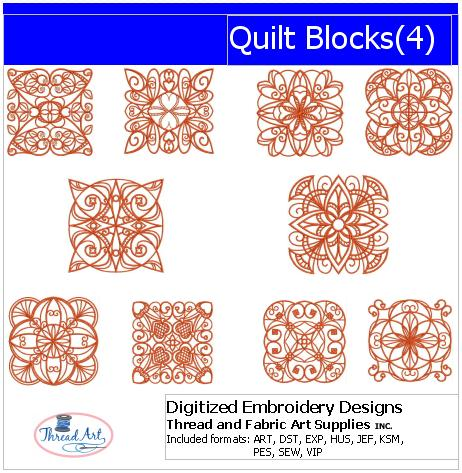 Machine Embroidery Designs - Quilt Blocks(4) - Threadart.com