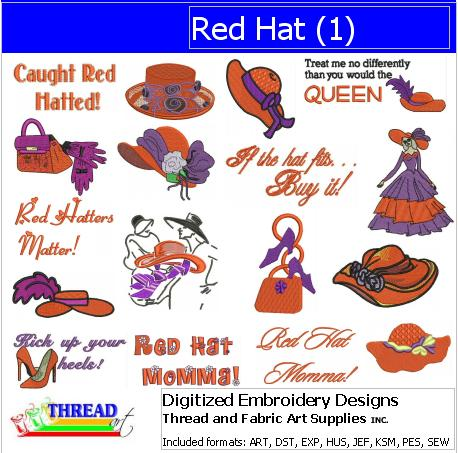 Machine Embroidery Designs - Red Hat(1)