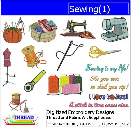 Machine Embroidery Designs - Sewing(1) - Threadart.com