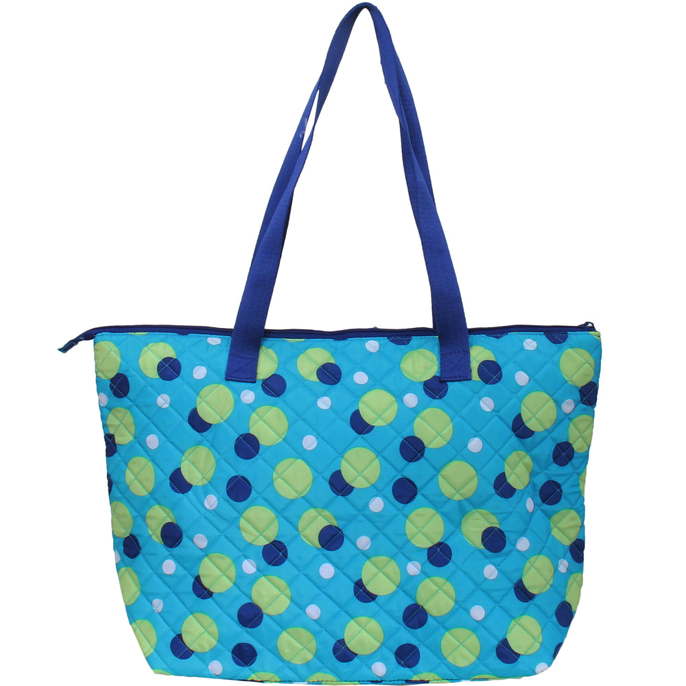 Shopper Tote - Blue Polka Dot - Threadart.com
