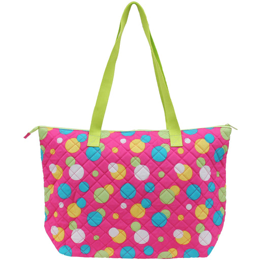 Shopper Tote - Pink Polka Dot - Threadart.com