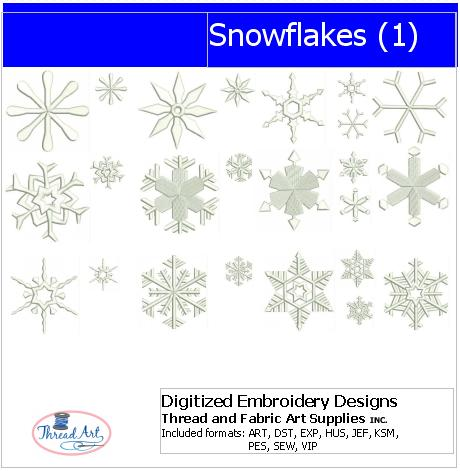 Machine Embroidery Designs - Snowflakes(1) - Threadart.com