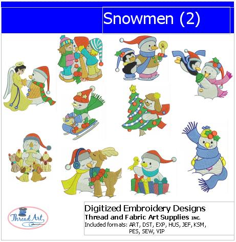 Machine Embroidery Designs - Snowmen(2) - Threadart.com