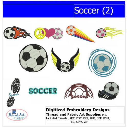 Machine Embroidery Designs - Soccer(2) - Threadart.com