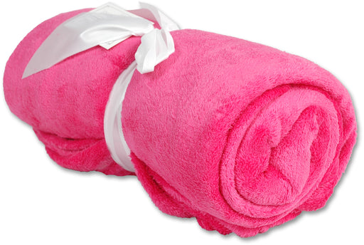 Pack of 3 Plush Fleece Blanket - Hot Pink - Threadart.com