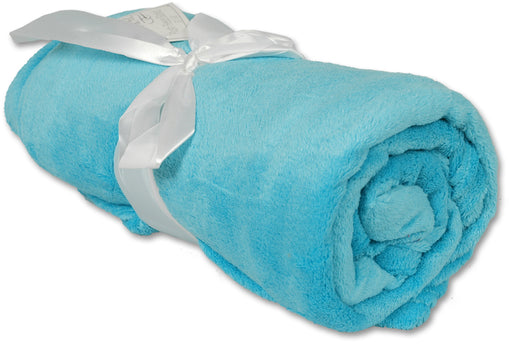Pack of 3 Plush Fleece Blanket - Turquoise - Threadart.com
