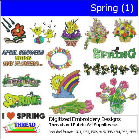 Machine Embroidery Designs - Spring(1) - Threadart.com