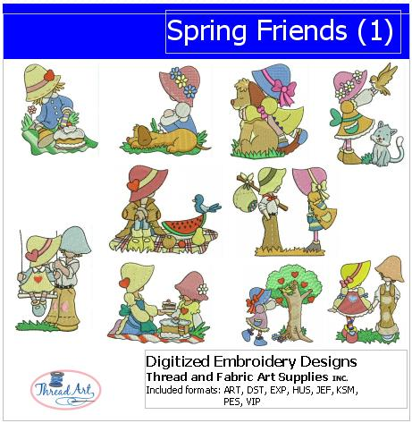 Machine Embroidery Designs - Spring Friends(1) - Threadart.com