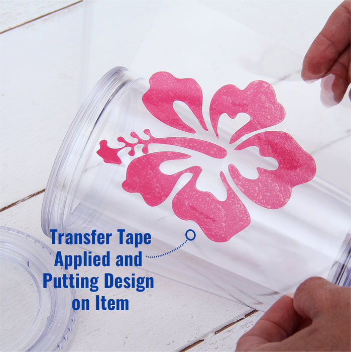 "Transfer Film Tape for Self Adhesive Sign Vinyl Film 24"" - By The Yard - Threadart.com"