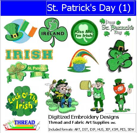 Machine Embroidery Designs - St Patricks Day (1) - Threadart.com