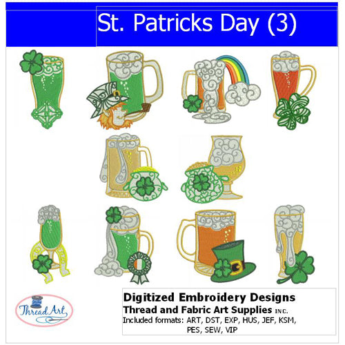 Machine Embroidery Designs - St Patricks Day(3) - Threadart.com