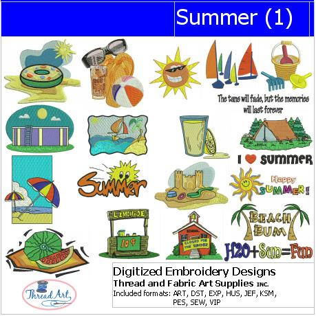 Machine Embroidery Designs - Summer(1) - Threadart.com