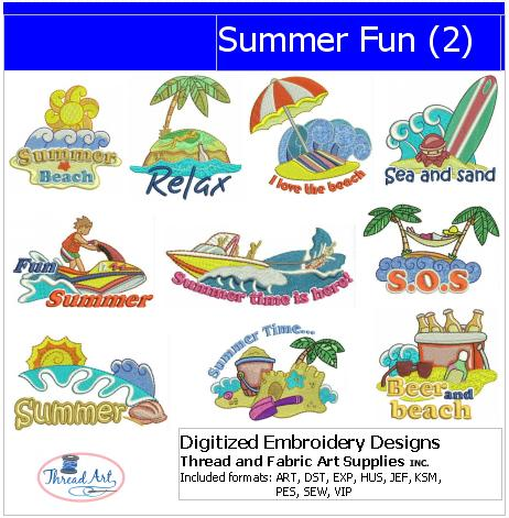 Machine Embroidery Designs - Summer Fun(2) - Threadart.com