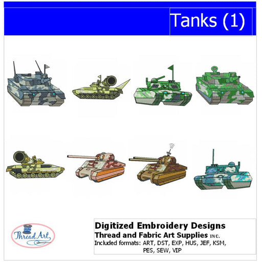Machine Embroidery Designs - Tanks(1) - Threadart.com
