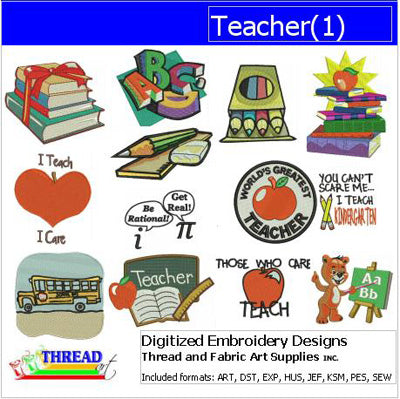 Machine Embroidery Designs - Teacher(1) - Threadart.com