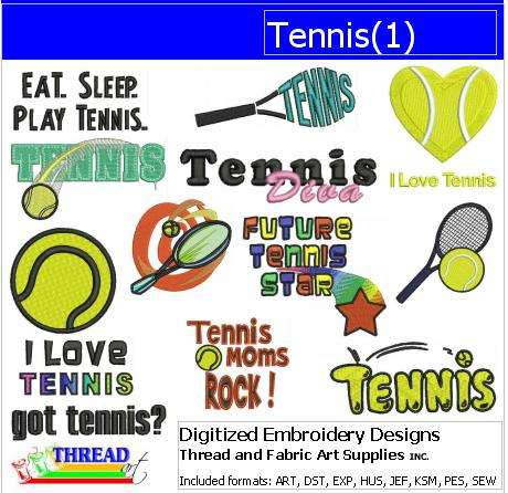 Machine Embroidery Designs - Tennis(1) - Threadart.com