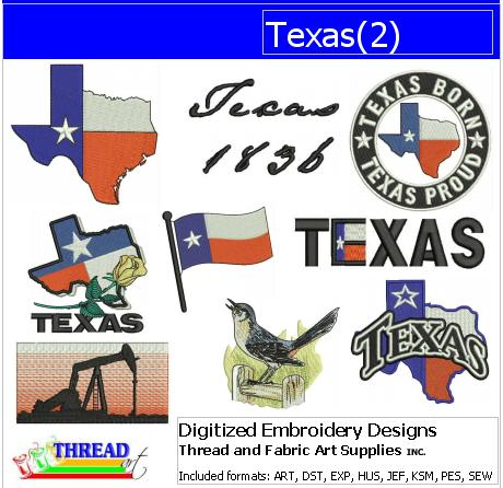 Machine Embroidery Designs - Texas(2) - Threadart.com