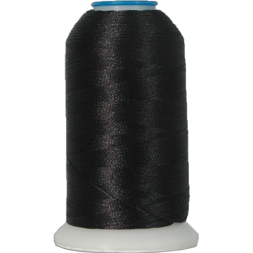 Polyester Embroidery Thread No. 102 - Black- 1000M - Threadart.com