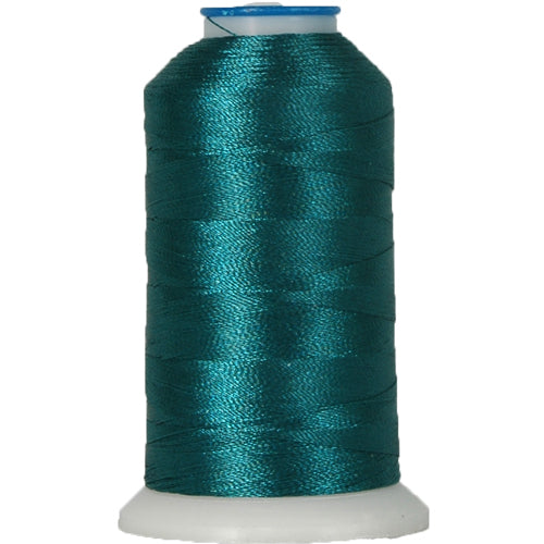 Rayon Thread No. 324 - Dk Ocean Teal - 1000M - Threadart.com