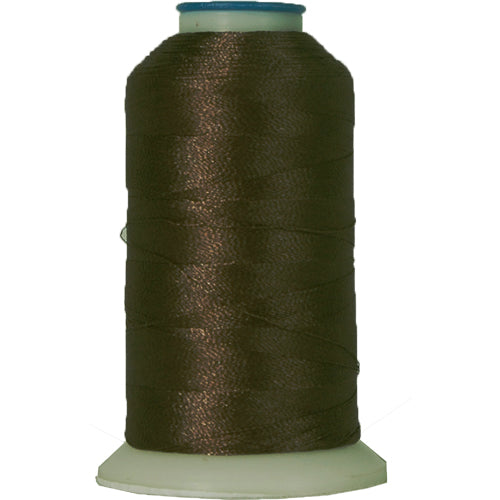 Polyester Embroidery Thread No. 399 - Expresso - 1000M - Threadart.com
