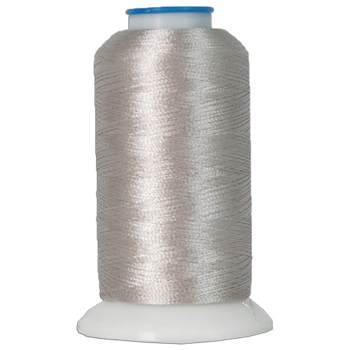 Polyester Embroidery Thread No. 414 - Silver Grey - 1000M - Threadart.com