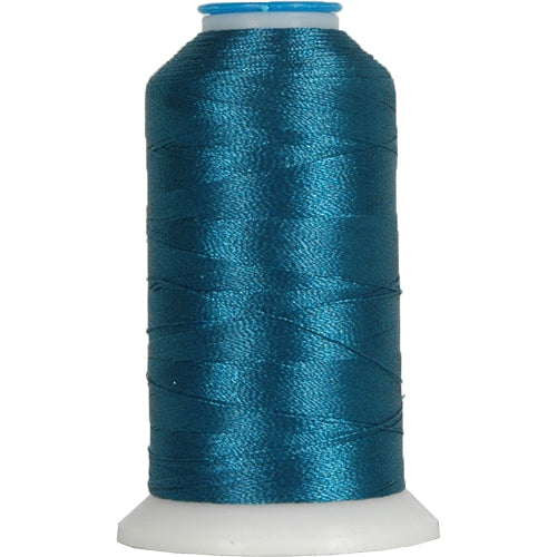 Polyester Embroidery Thread No. 470 - Dk. Turquoise- 1000M - Threadart.com