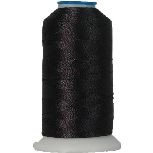 Polyester Embroidery Thread No. 641 - Off Black - 1000M - Threadart.com