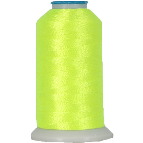 Polyester Embroidery Thread No. 823 - Neon Yellow - 1000M - Threadart.com