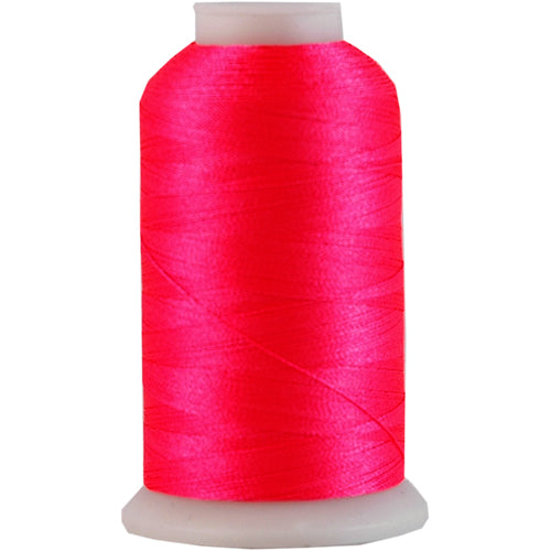 Polyester Embroidery Thread No. 909 - Neon Flamingo- 1000M - Threadart.com