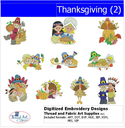 Machine Embroidery Designs - Thanksgiving(2) - Threadart.com