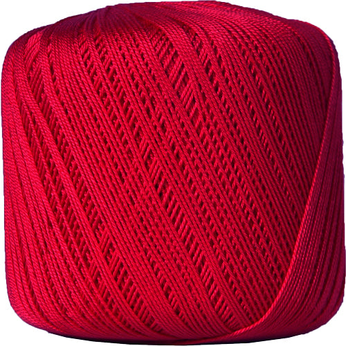 Cotton Crochet Thread - Size 10 - Red - 175 Yds - Threadart.com