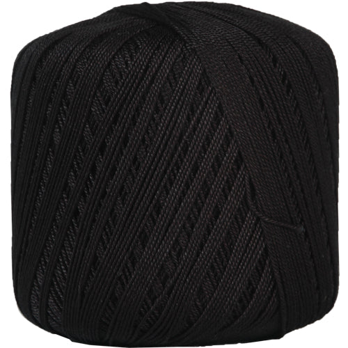 Cotton Crochet Thread - Size 10 - Black - Threadart.com