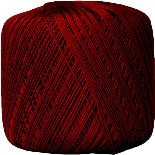 Cotton Crochet Thread - Size 10 - Burgundy - 175 Yds - Threadart.com