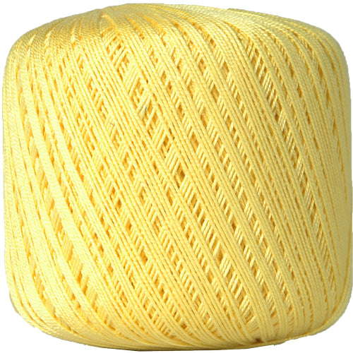 Cotton Crochet Thread - Size 10 - Yellow - 175 Yds - Threadart.com