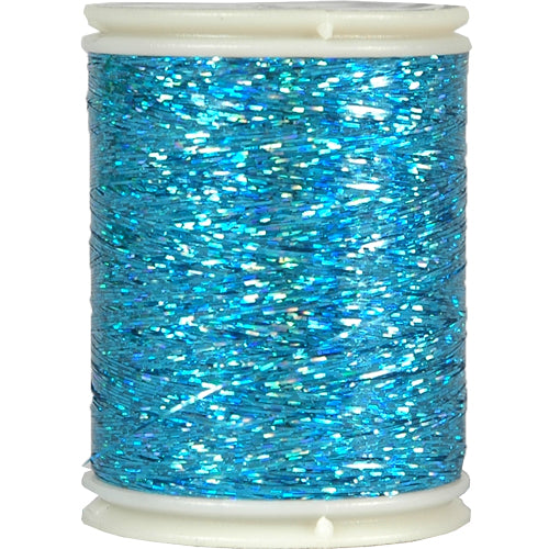 Sparkle Holographic Thread - 300 Meters - Blue - Threadart.com