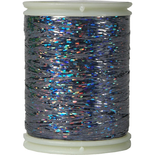 Sparkle Holographic Thread - 300 Meters - Black - Threadart.com