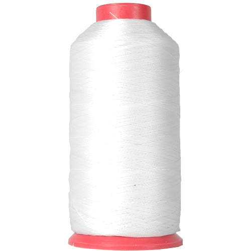 Bonded Nylon Thread - 1500 Meters - #69 - Color White - Threadart.com