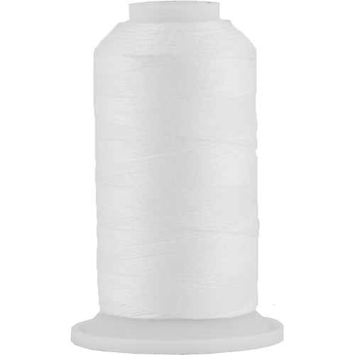 All-Purpose Polyester Sewing Thread No. 101- 600 Meter Cones - White - Threadart.com