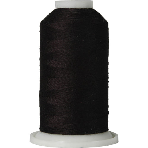 All-Purpose Polyester Sewing Thread No. 102- 600 Meter Cones - Black - Threadart.com