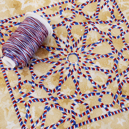 Multicolor Variegated Cotton Thread 600M - Patriotics - Threadart.com