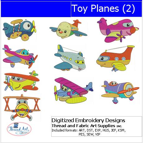 Machine Embroidery Designs - Toy Planes(2) - Threadart.com