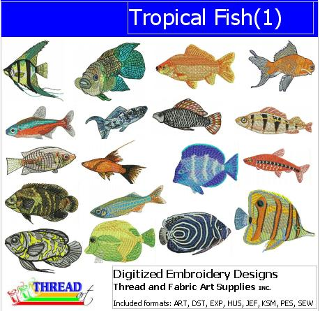 Machine Embroidery Designs - Tropical Fish(1) - Threadart.com