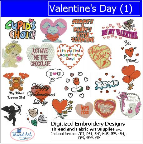 Machine Embroidery Designs - Valentine's Day(1) - Threadart.com