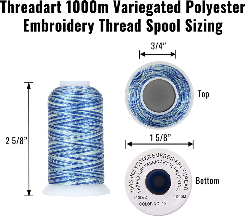 Multicolor Polyester Embroidery Thread No. 18 - Variegated Arabian Nights - Threadart.com