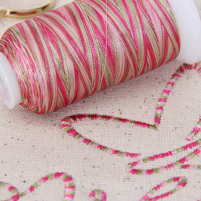 Multicolor Polyester Embroidery Thread No. 5 - Variegated Sunrise - Threadart.com